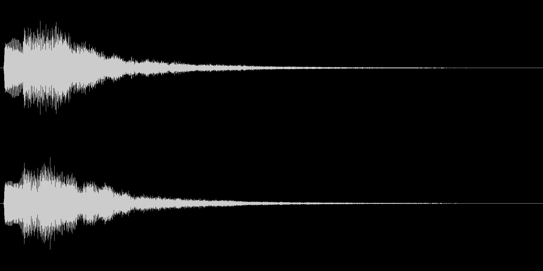 決定音 はい、Yes、◯ などを想定の未再生の波形