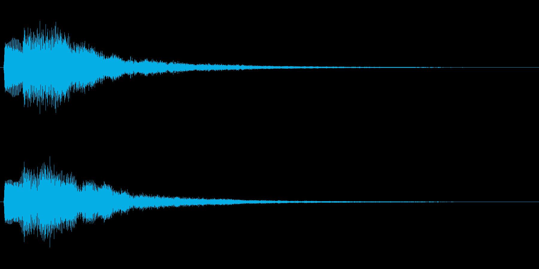 決定音 はい、Yes、◯ などを想定の再生済みの波形
