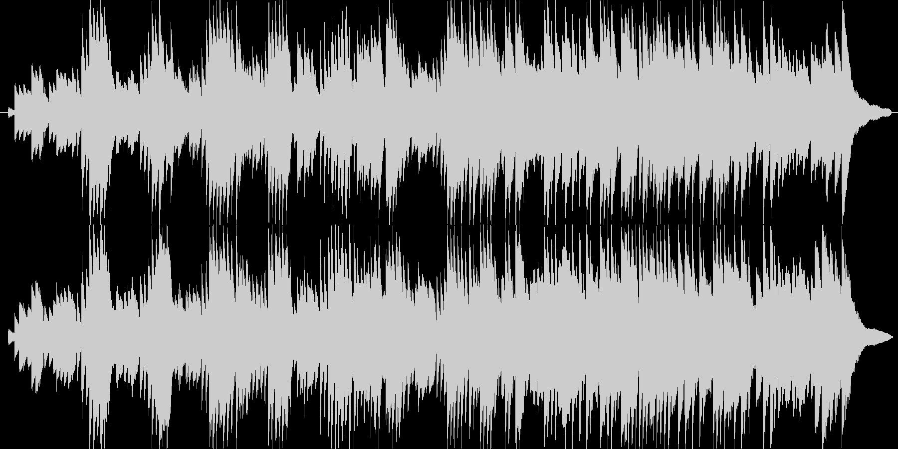 ピアノだけで演奏した切なく悲しげな曲の未再生の波形
