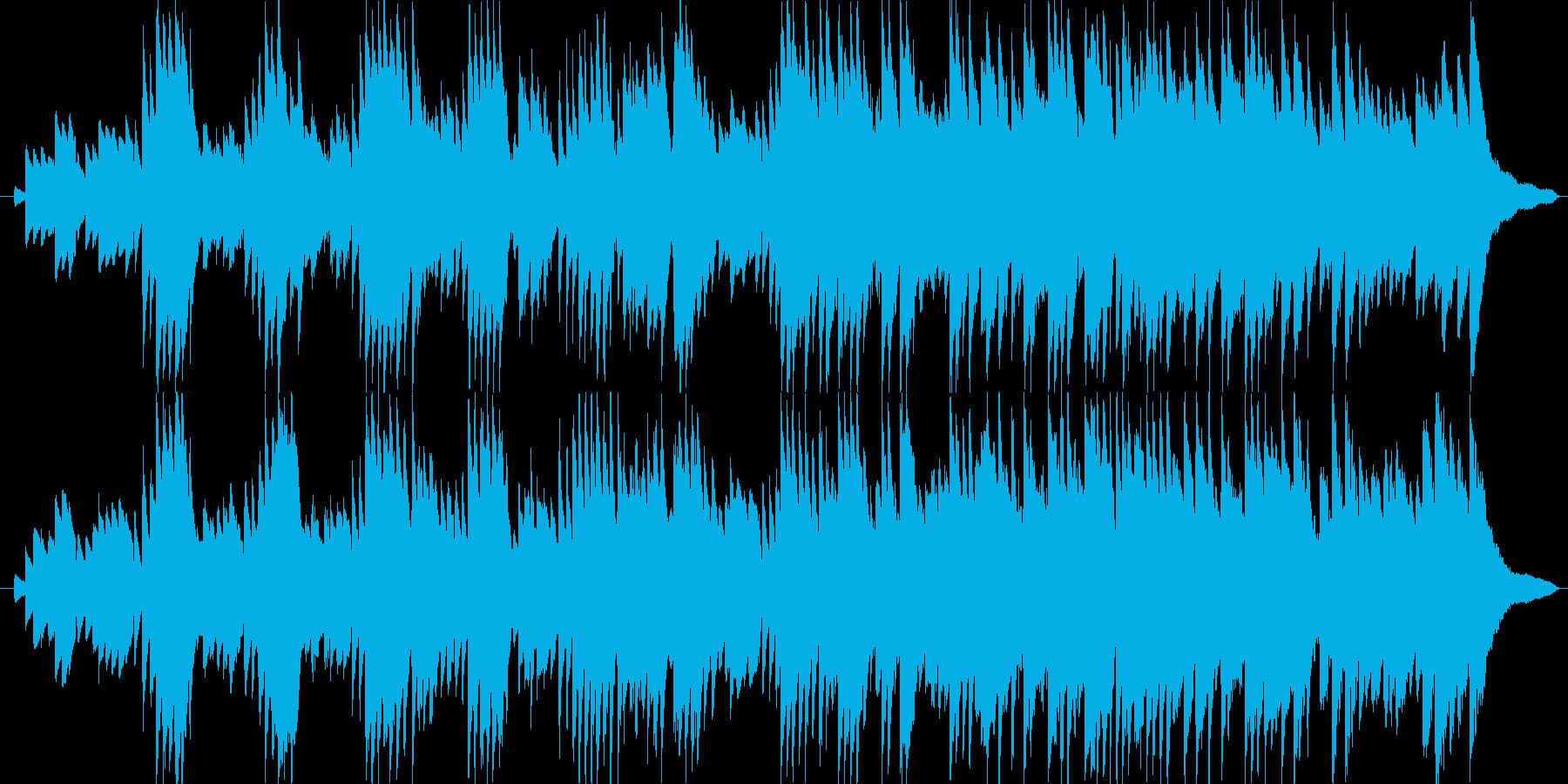 ピアノだけで演奏した切なく悲しげな曲の再生済みの波形