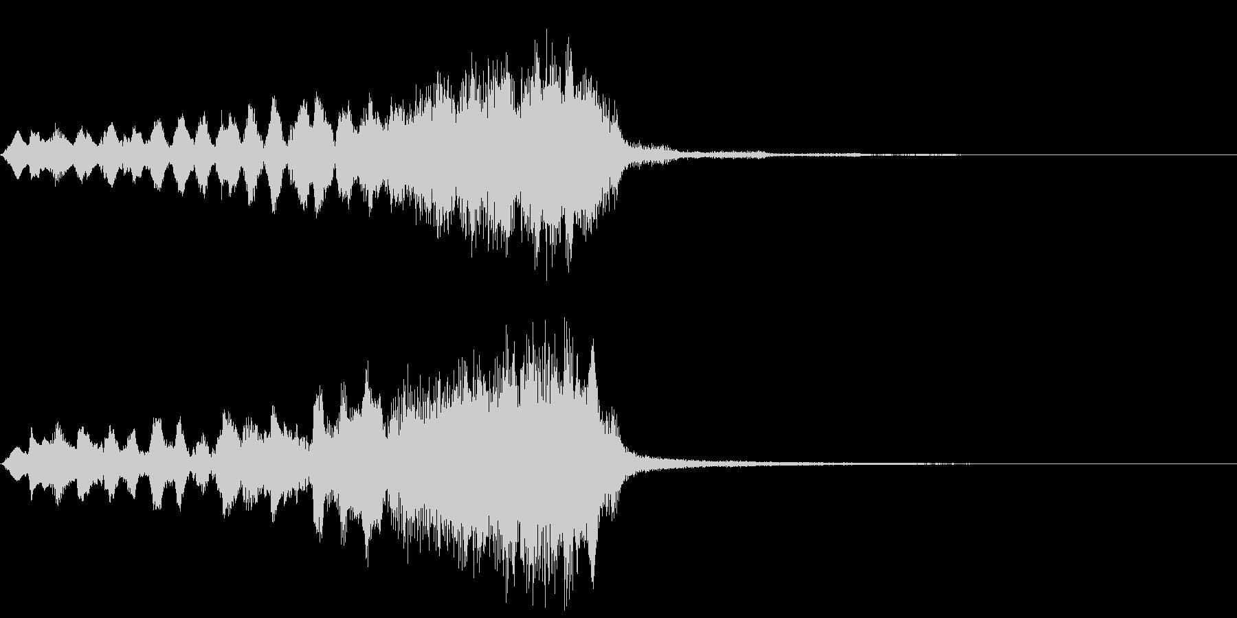 サスペンス~衝撃の新事実~の未再生の波形