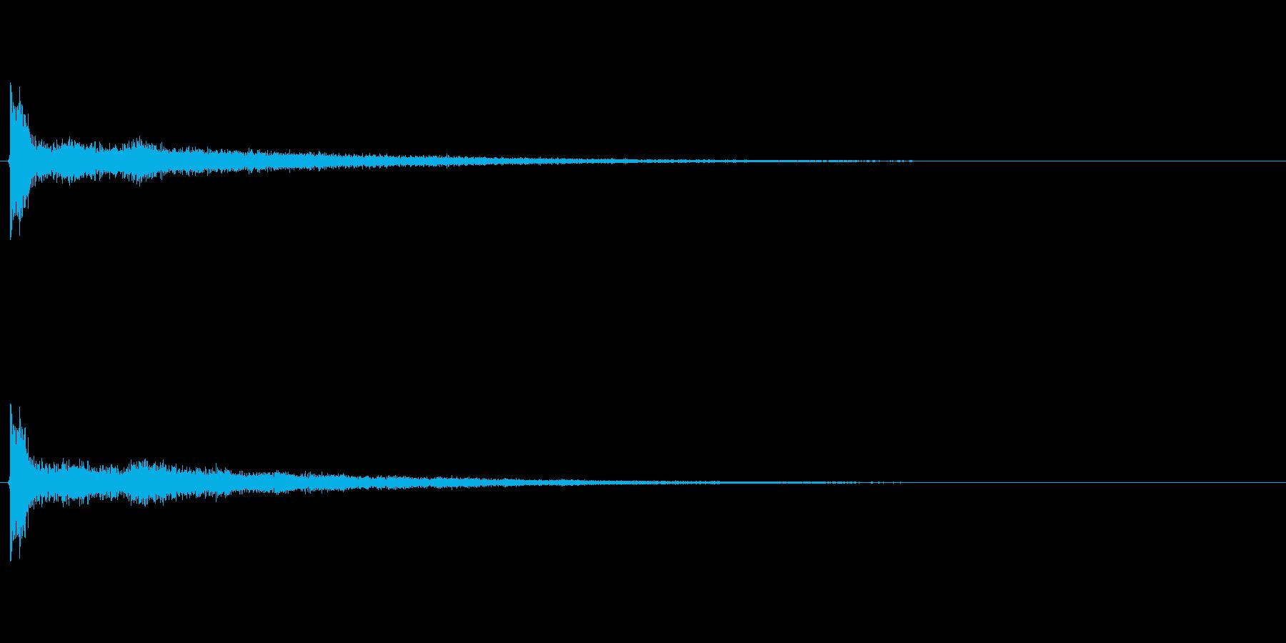 ショックな出来事のときに鳴るイメージの再生済みの波形