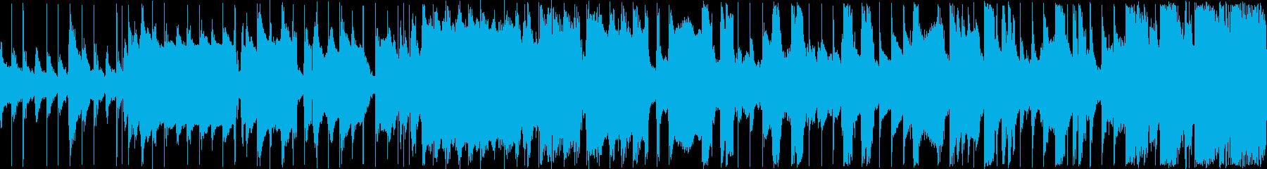 のどかでほのぼのとしたループ楽曲の再生済みの波形
