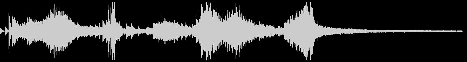 和風のジングル4-ピアノソロの未再生の波形