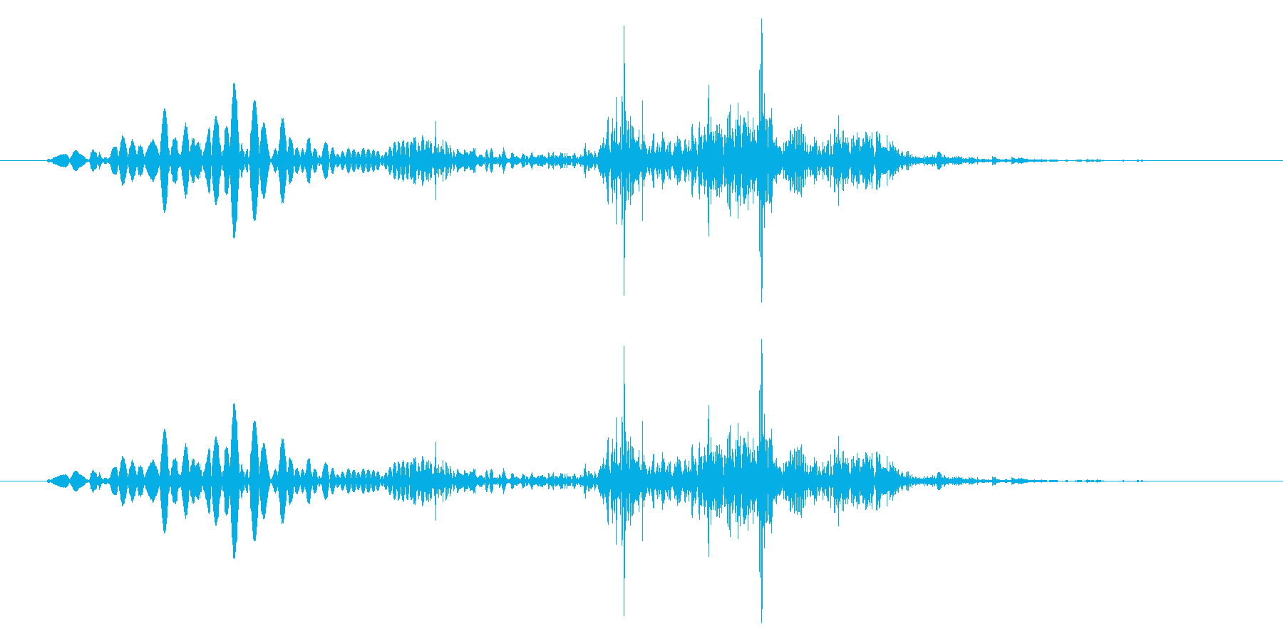 【ポワ、ポチャ】リアルな泡、水滴音06!の再生済みの波形