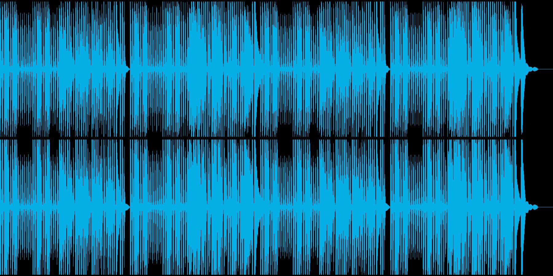料理動画をイメージしたピアノソロの再生済みの波形