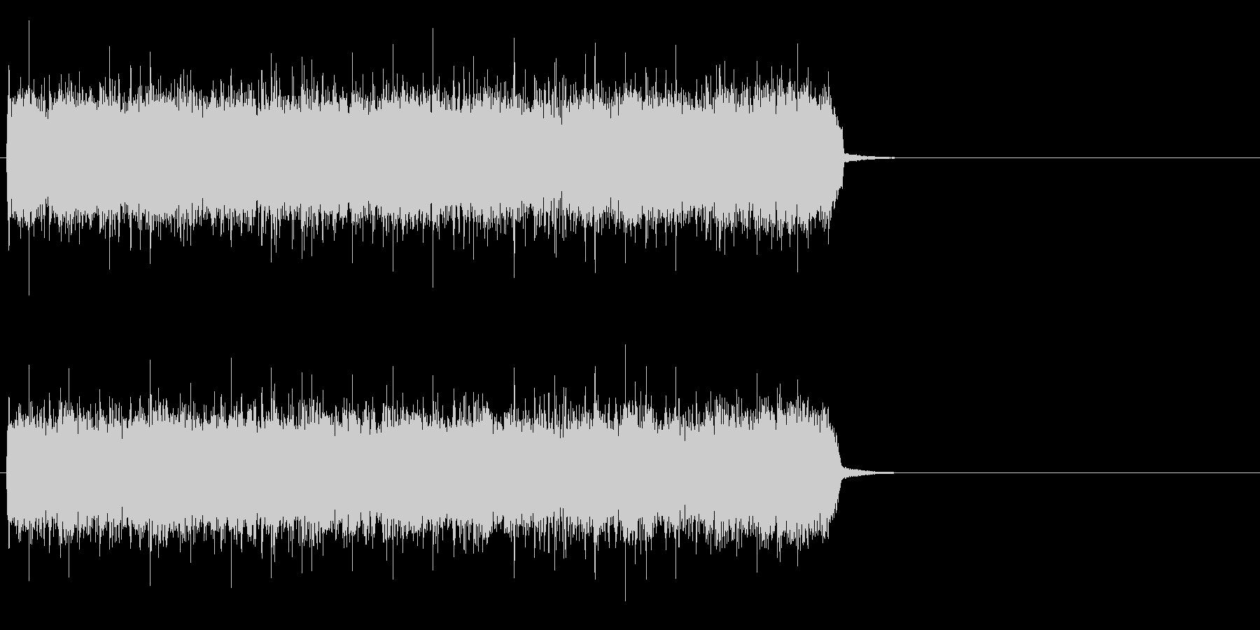疾走感溢れるハードロック(サビ)の未再生の波形