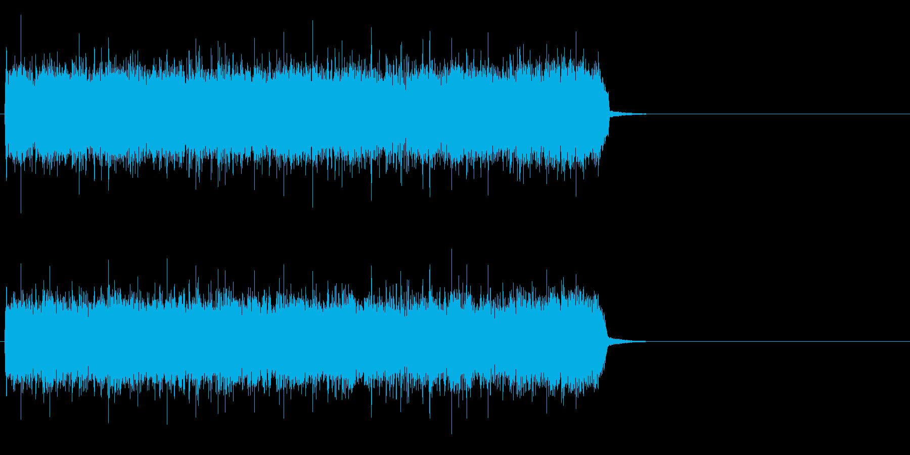疾走感溢れるハードロック(サビ)の再生済みの波形