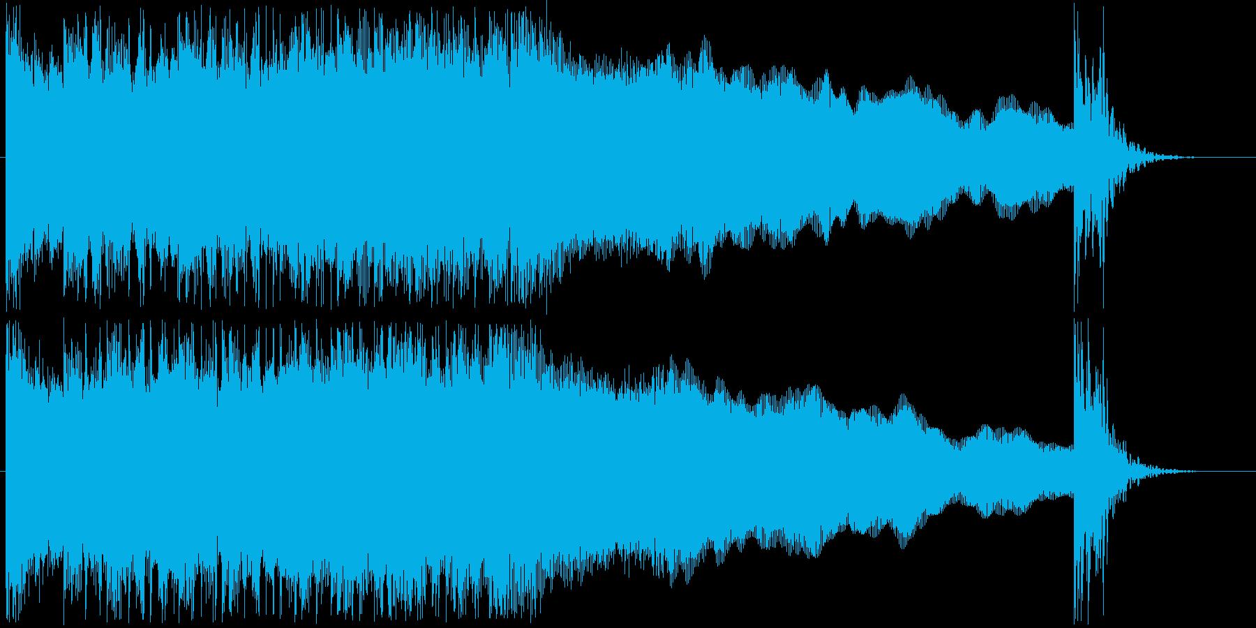 過激なギターロック系ジングル短めの再生済みの波形