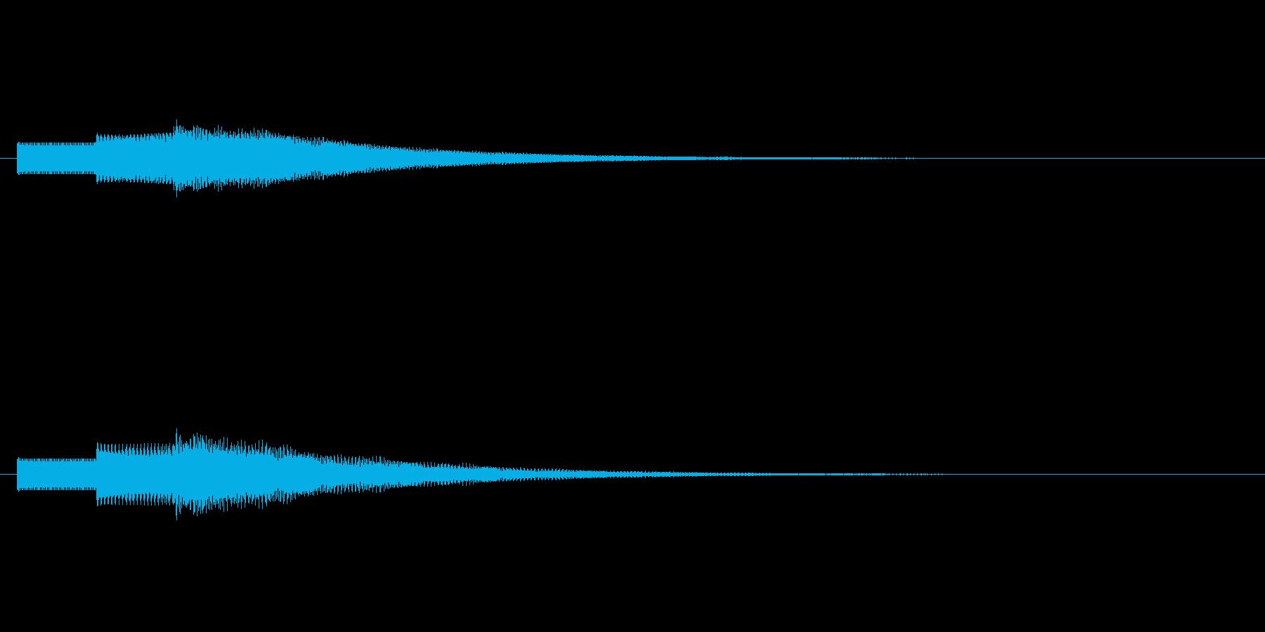 明るい響きの効果音ですの再生済みの波形