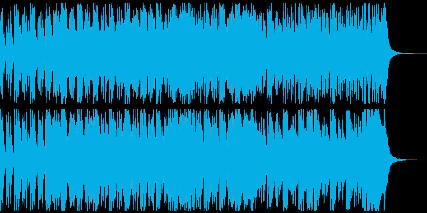 行進曲風オーケストラ 約55秒 メロ抜きの再生済みの波形