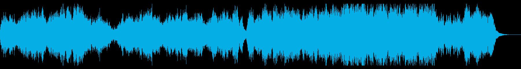 切ないメロディの合唱&オーケストラBGMの再生済みの波形
