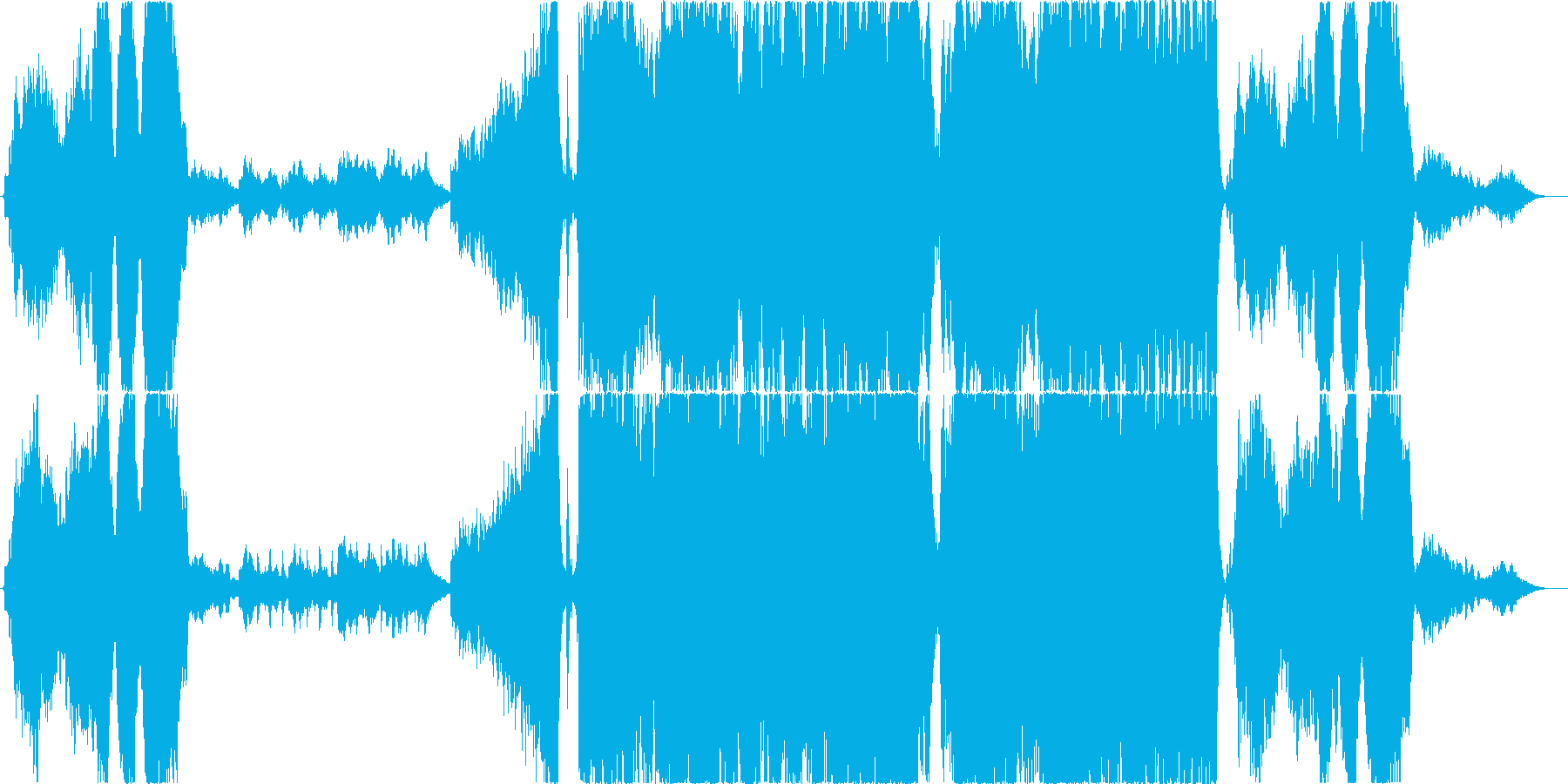 壮大なハリウッド系エピックトレイラーの再生済みの波形