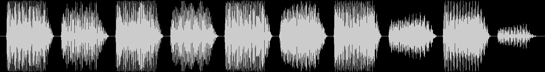 効果音。ポロリ音(ゲーム音)の未再生の波形