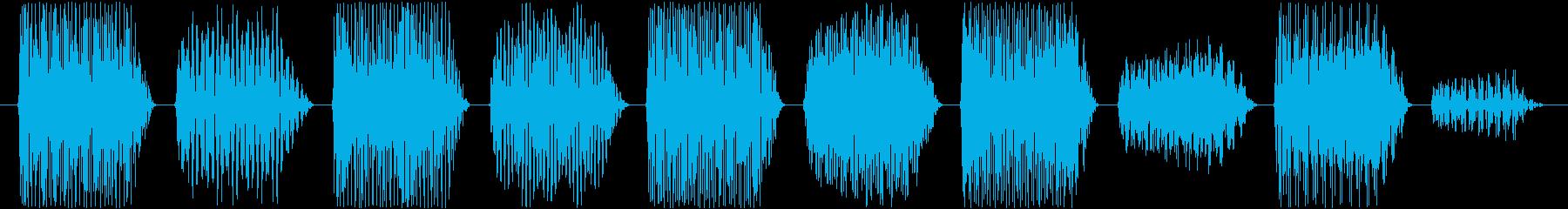 効果音。ポロリ音(ゲーム音)の再生済みの波形