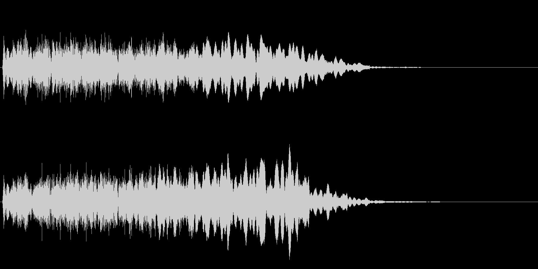 レベルアップのジングルの未再生の波形