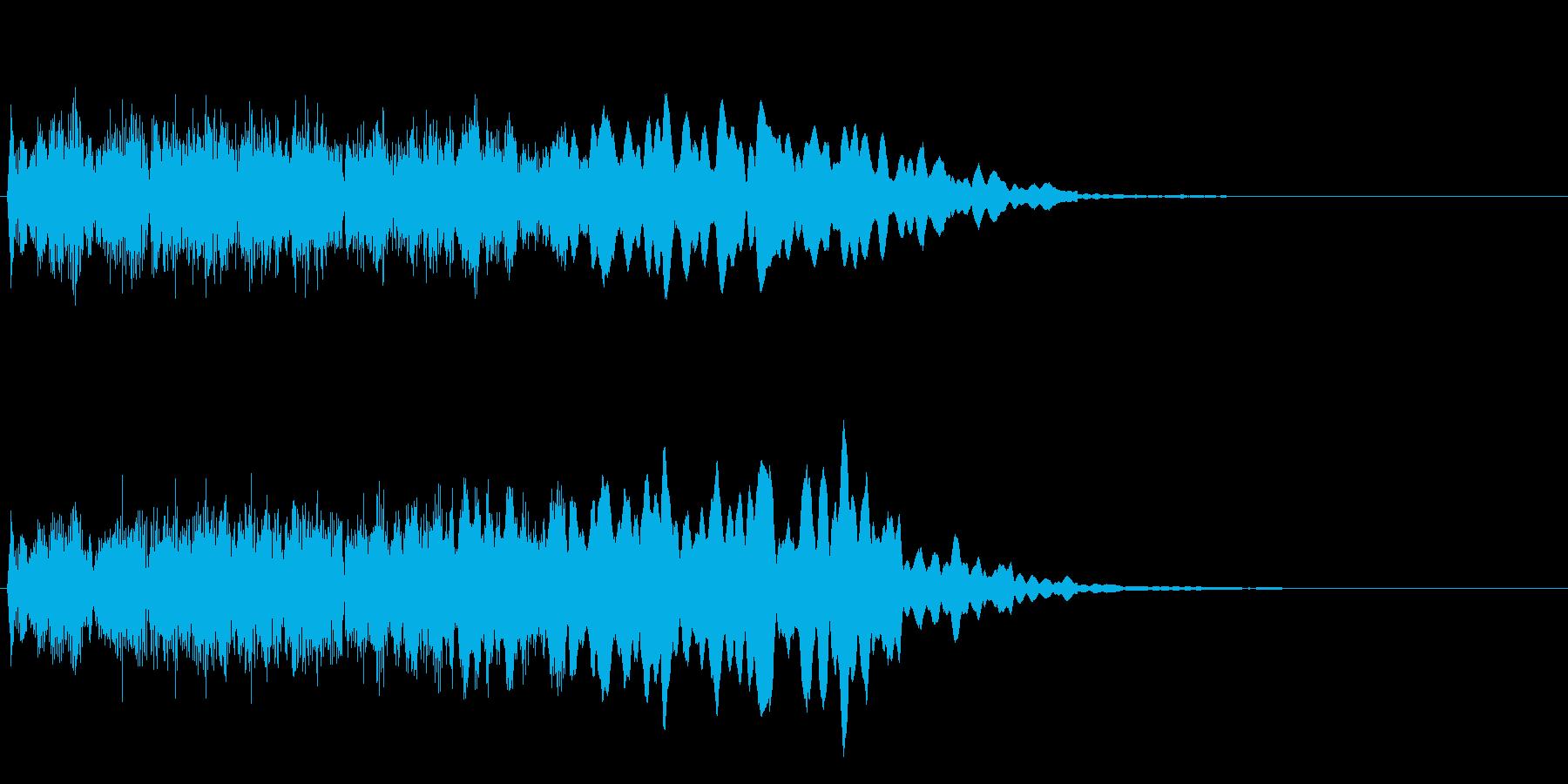 レベルアップのジングルの再生済みの波形
