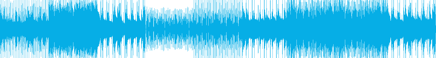 スラップベースでノリのいいループBGMの再生済みの波形