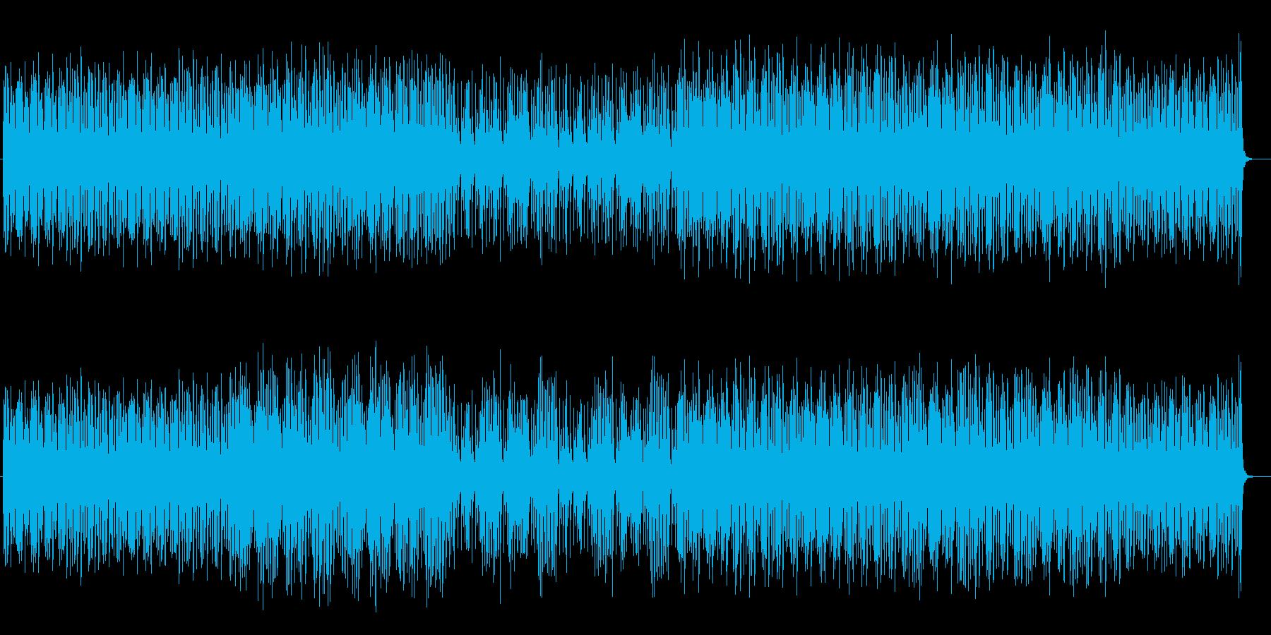 お洒落で浮遊感のあるポップスの再生済みの波形