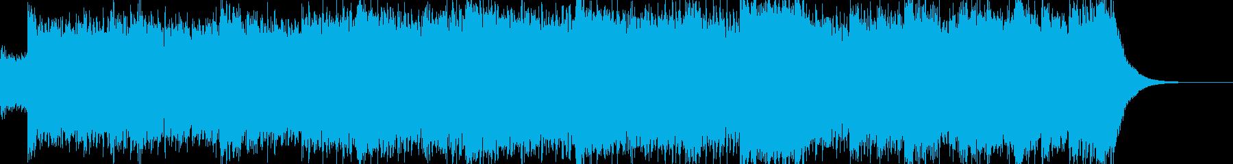 テンポの良い4つ打ちのオーケストラの再生済みの波形
