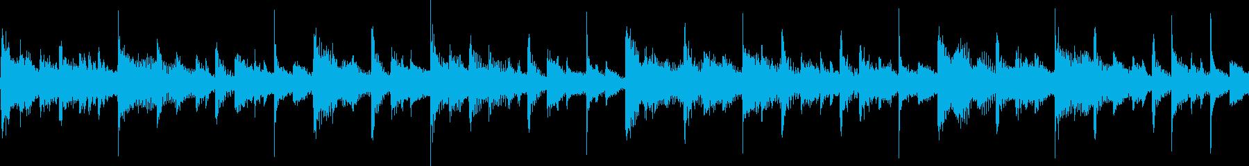 スタイリッシュなシンセジングル(ループ)の再生済みの波形