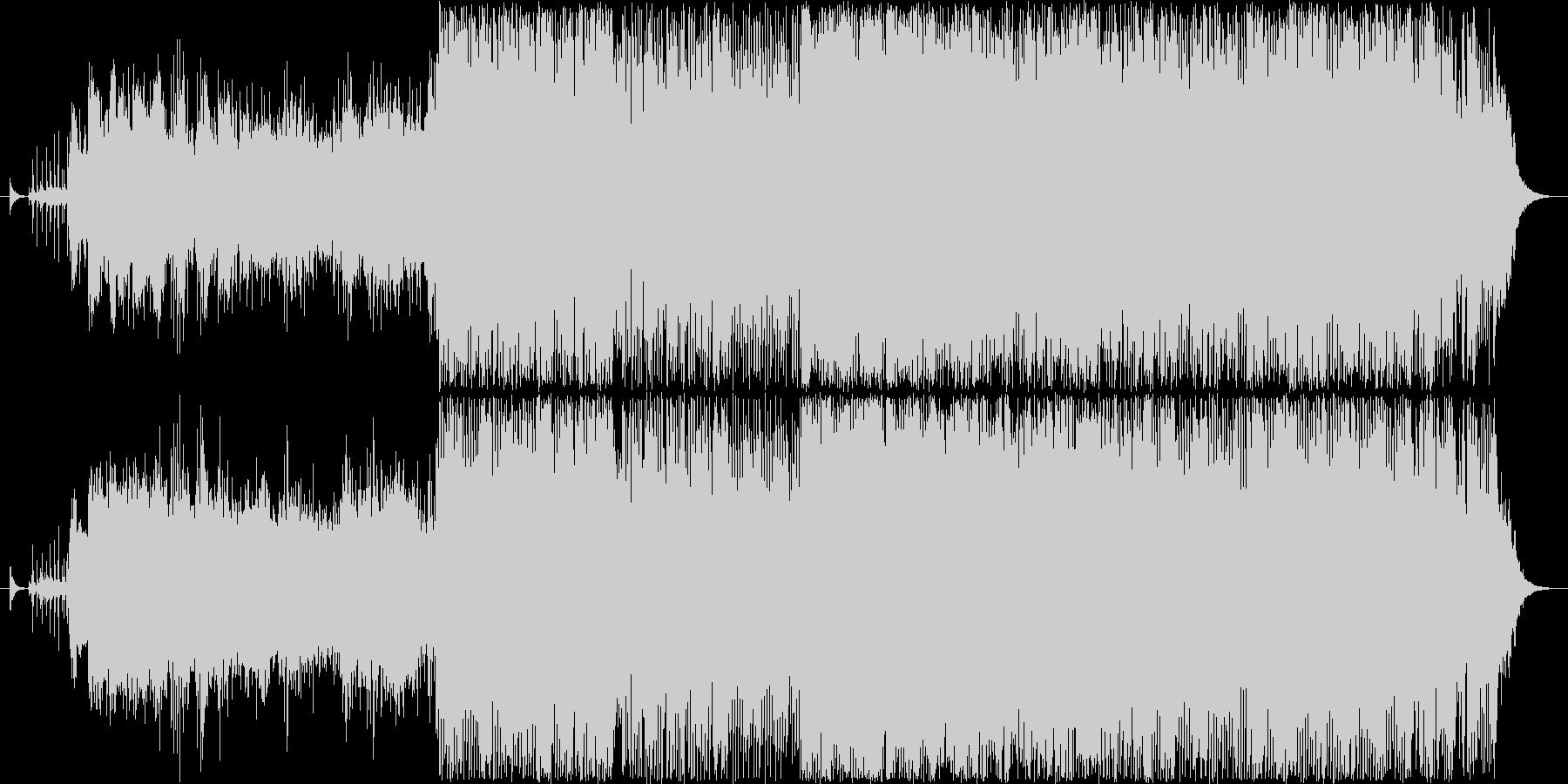 サイバー SF 近未来 ピアノ トランスの未再生の波形