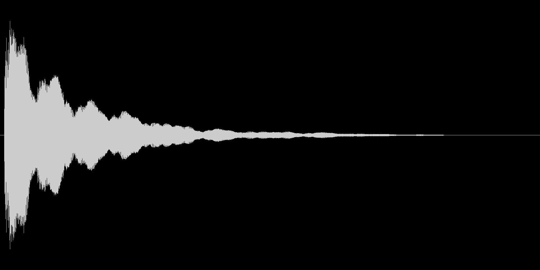 コミカルなバネのような効果音(mid)の未再生の波形