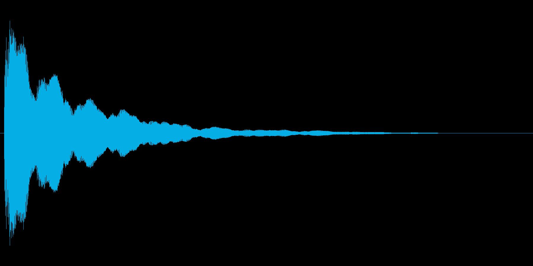 コミカルなバネのような効果音(mid)の再生済みの波形