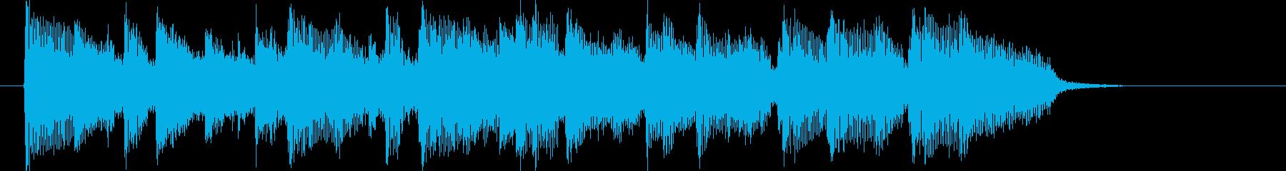 アコースティックバンドのポップなジングルの再生済みの波形