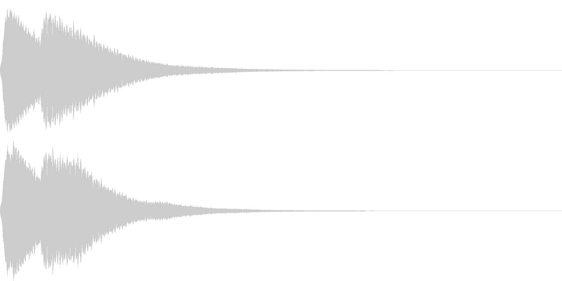 【SE】決定音03(ポピーン)の未再生の波形