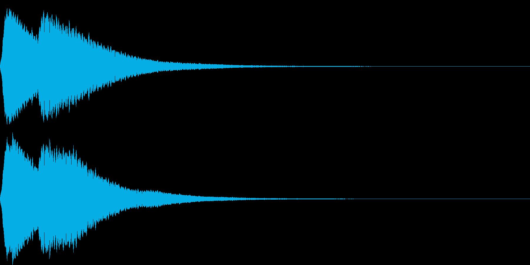 【SE】決定音03(ポピーン)の再生済みの波形