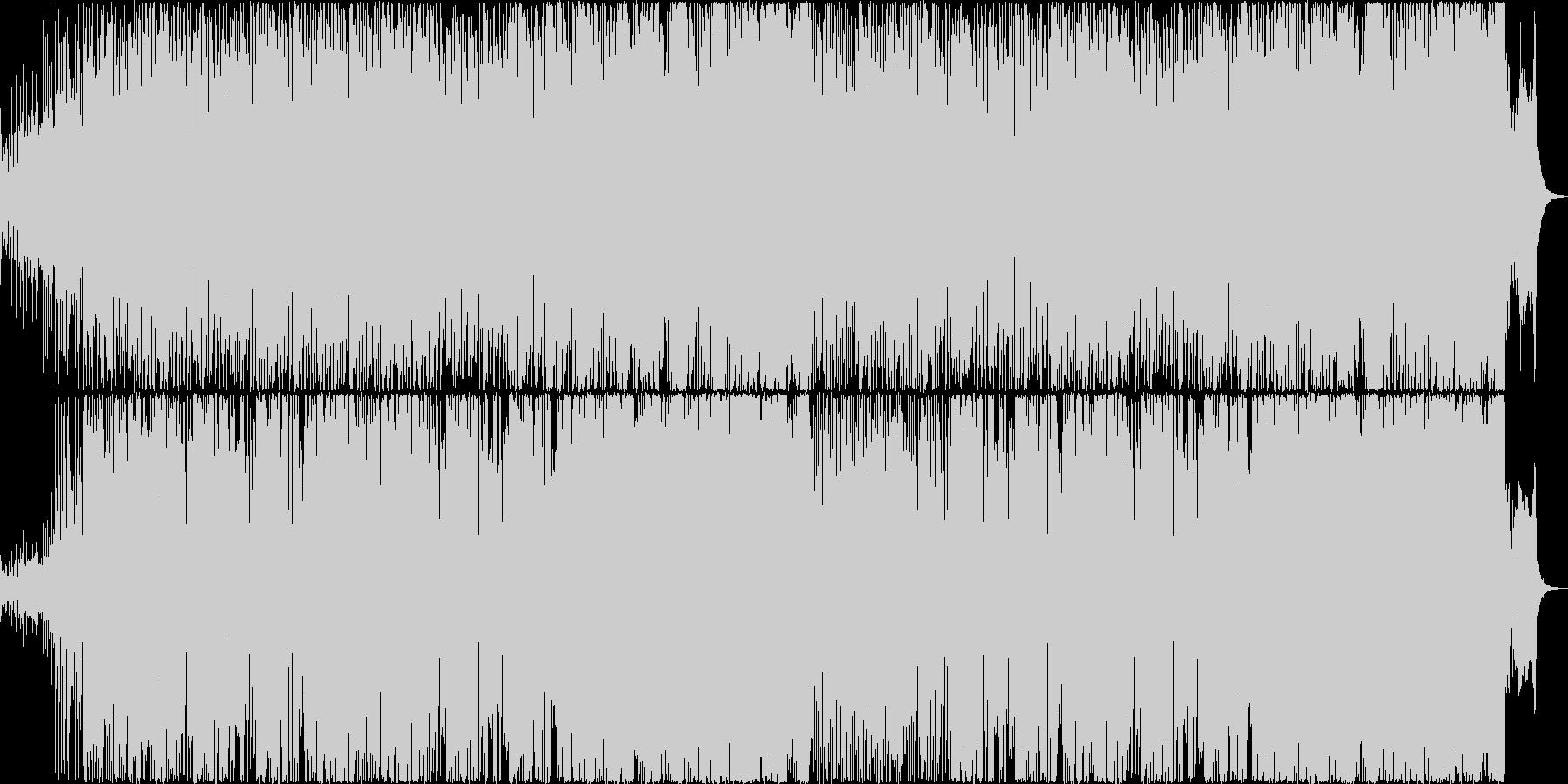 和風の雰囲気のあるコミカルなBGMの未再生の波形