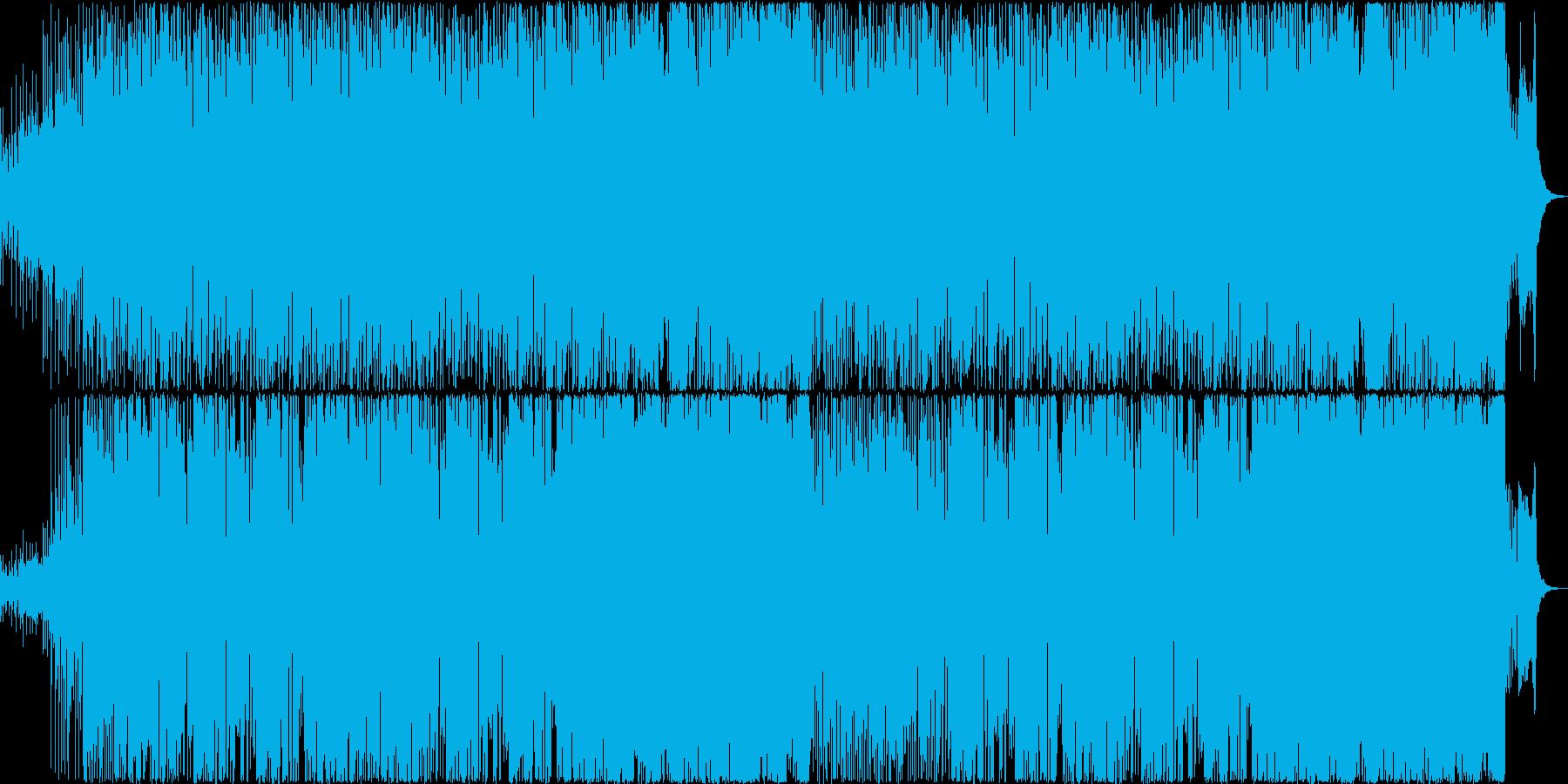 和風の雰囲気のあるコミカルなBGMの再生済みの波形
