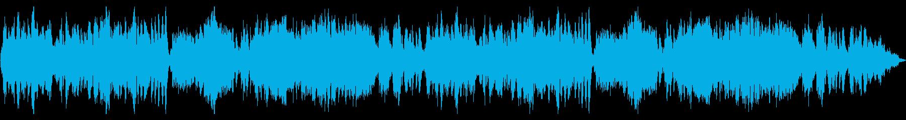 緊張感のある音楽の再生済みの波形
