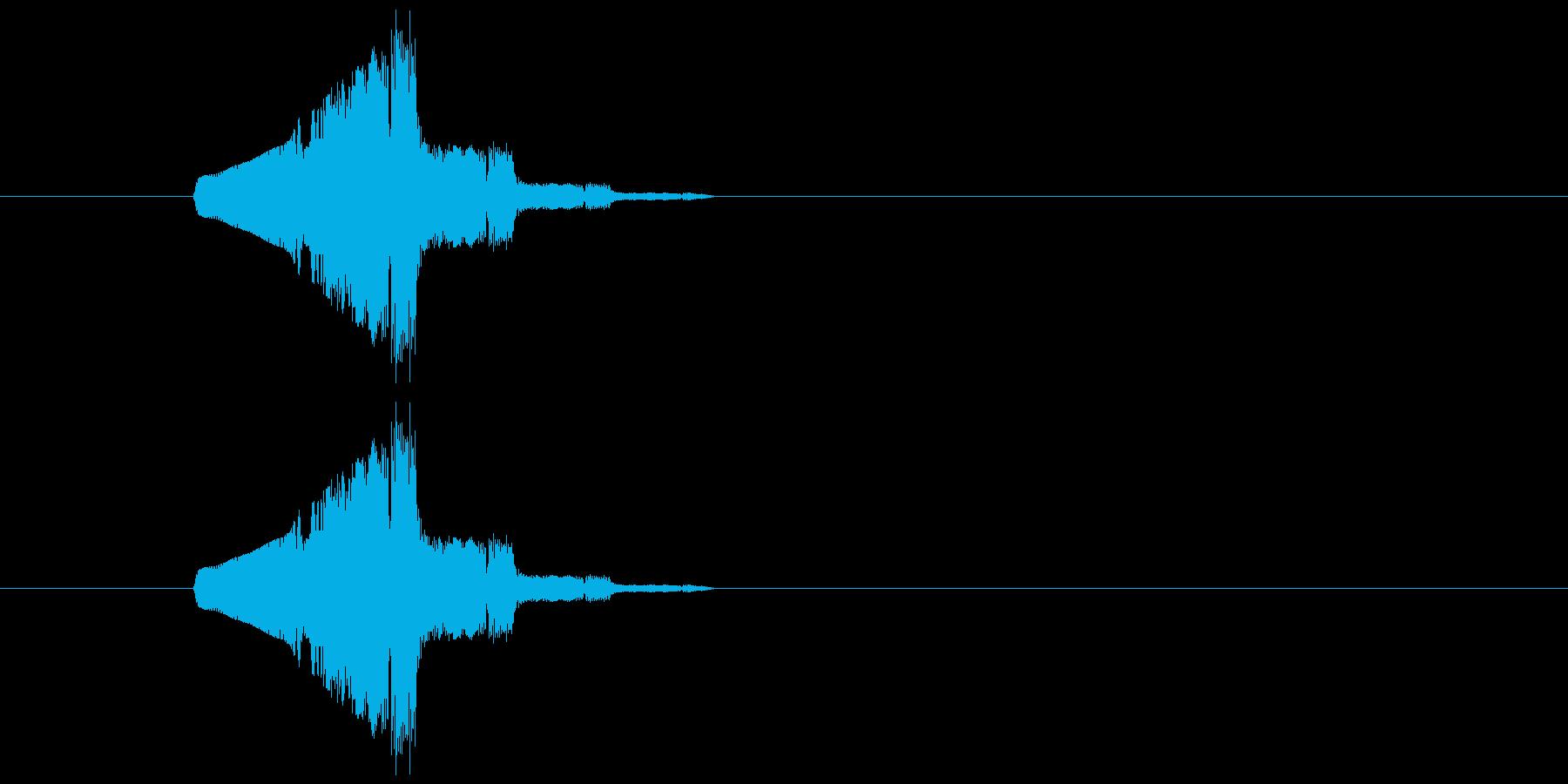 キャンセル等のイメージのシステム効果音…の再生済みの波形