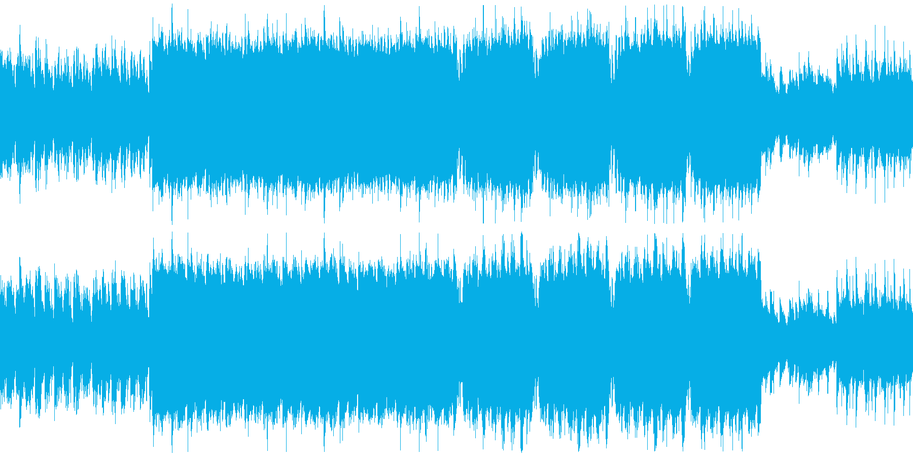 ほのぼのとした3拍子の楽曲の再生済みの波形