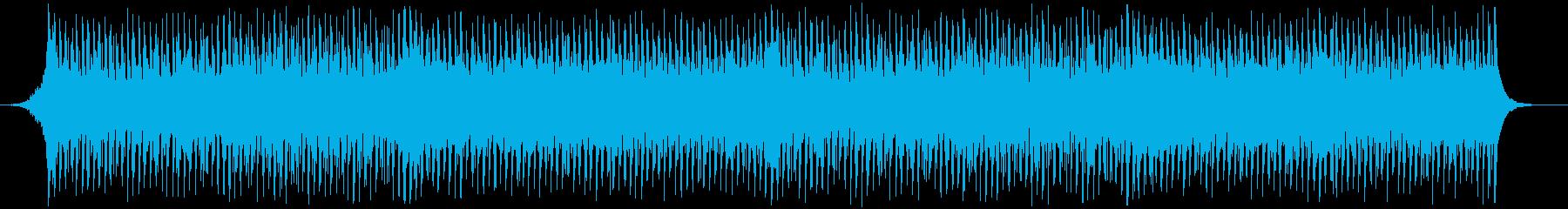 4つ打ちキックの軽快で明るいテクノ。の再生済みの波形