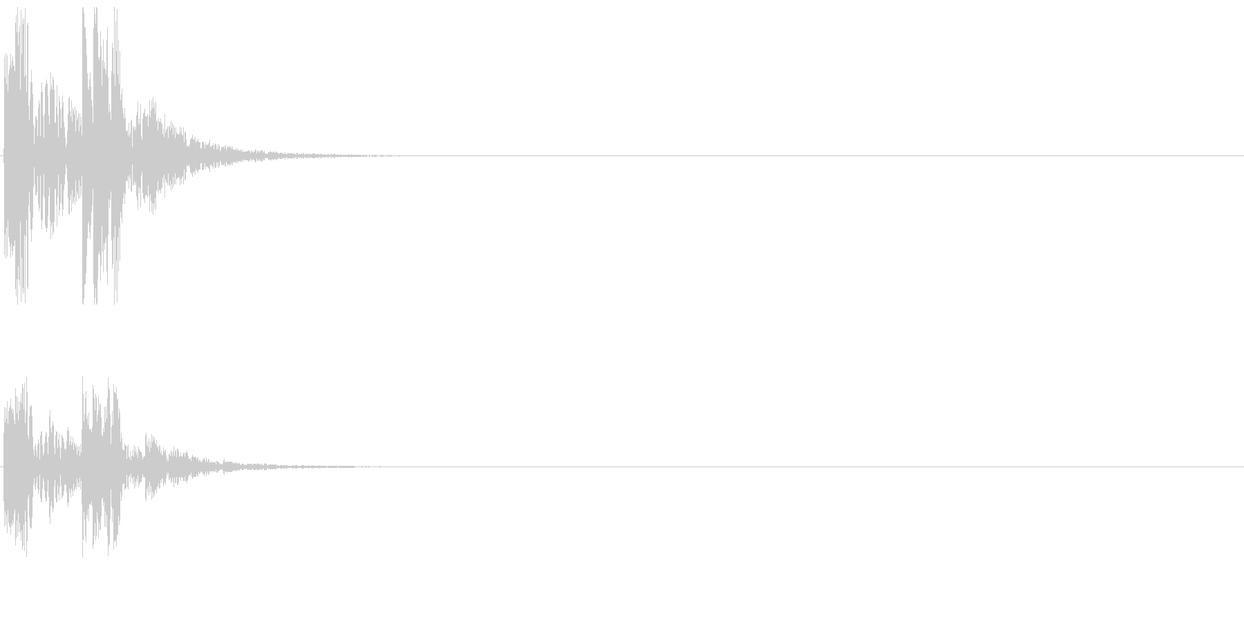 決定音07(ポパッ)の未再生の波形