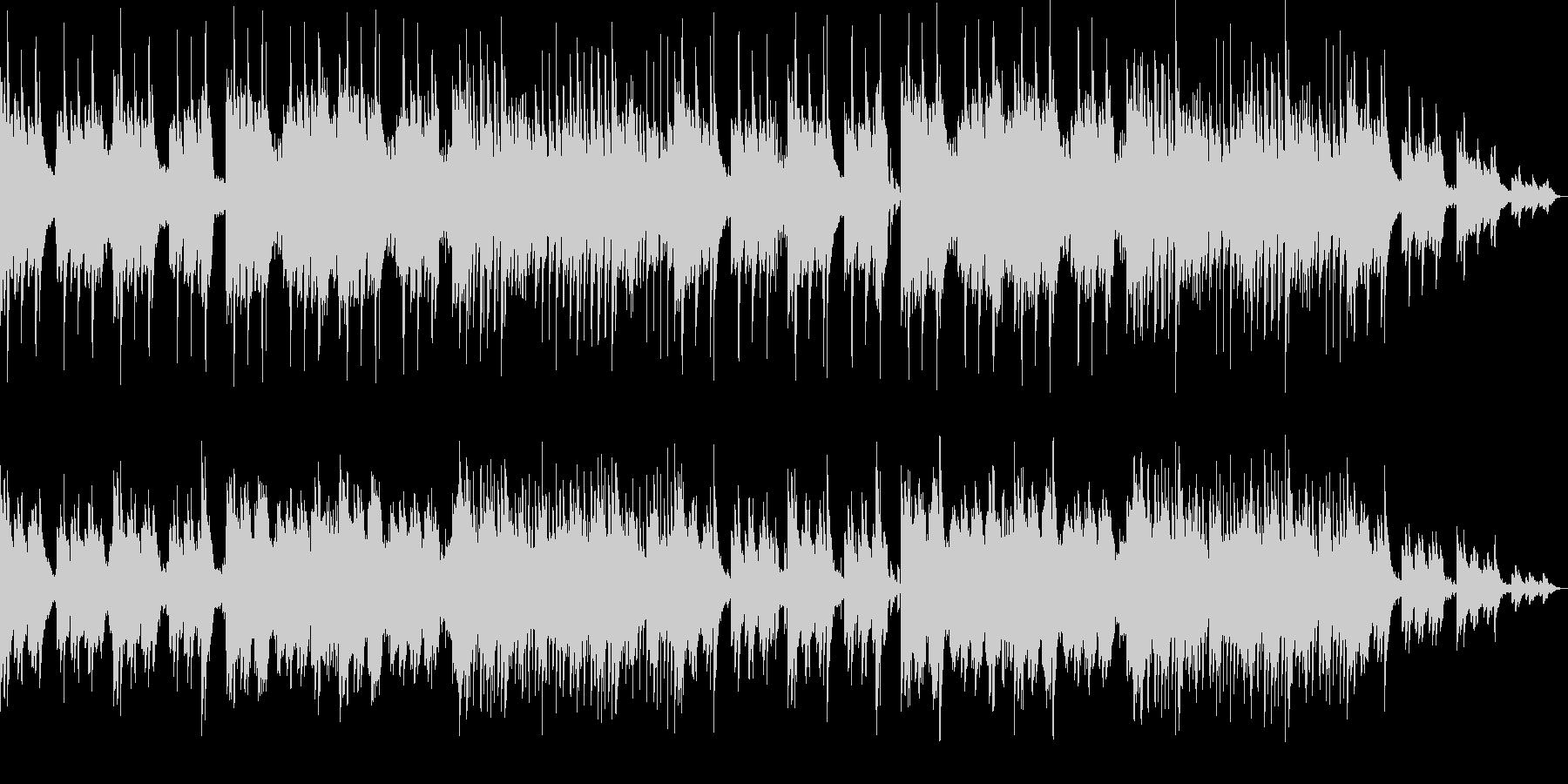 不気味なホラー曲 ピアノと木管系の未再生の波形