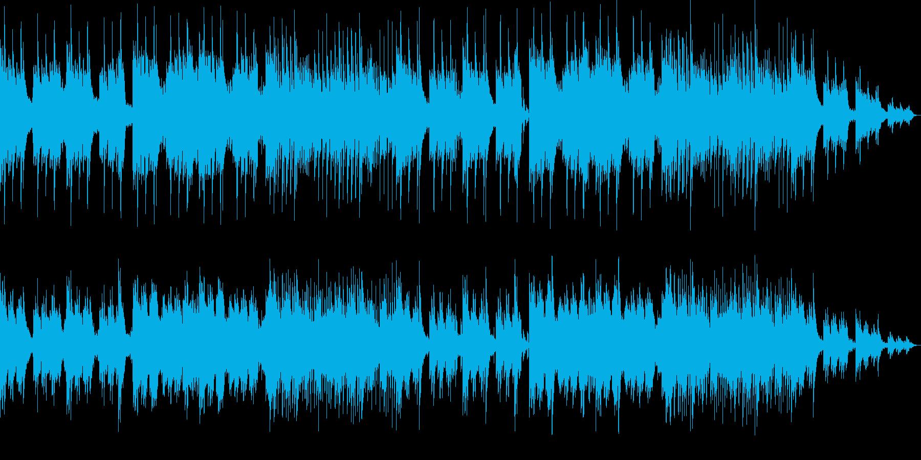 不気味なホラー曲 ピアノと木管系の再生済みの波形