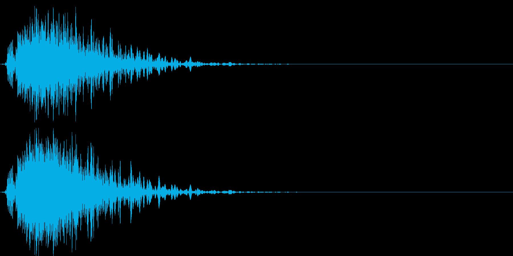 ドカーンバラバラ (爆発して壊れる音)の再生済みの波形
