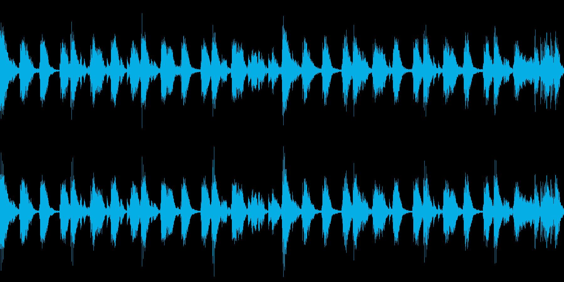 リズムに乗れると楽しいアンビエント曲 の再生済みの波形