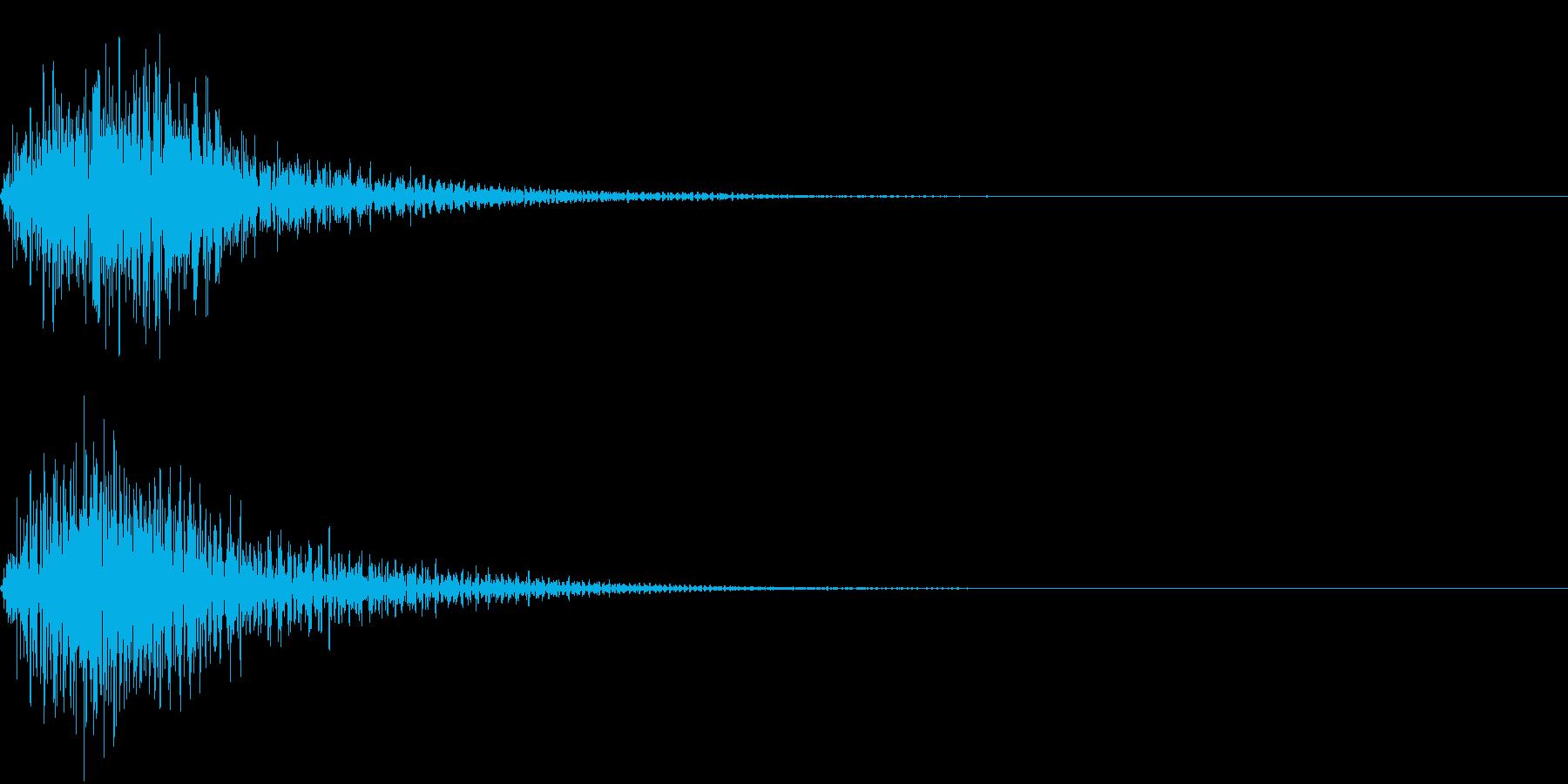 決定音1【ファン】近未来的の再生済みの波形
