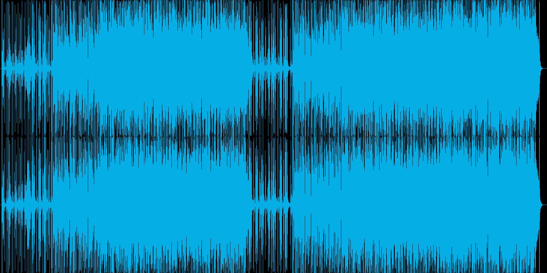 ほのぼのした日常系アコースティックロックの再生済みの波形