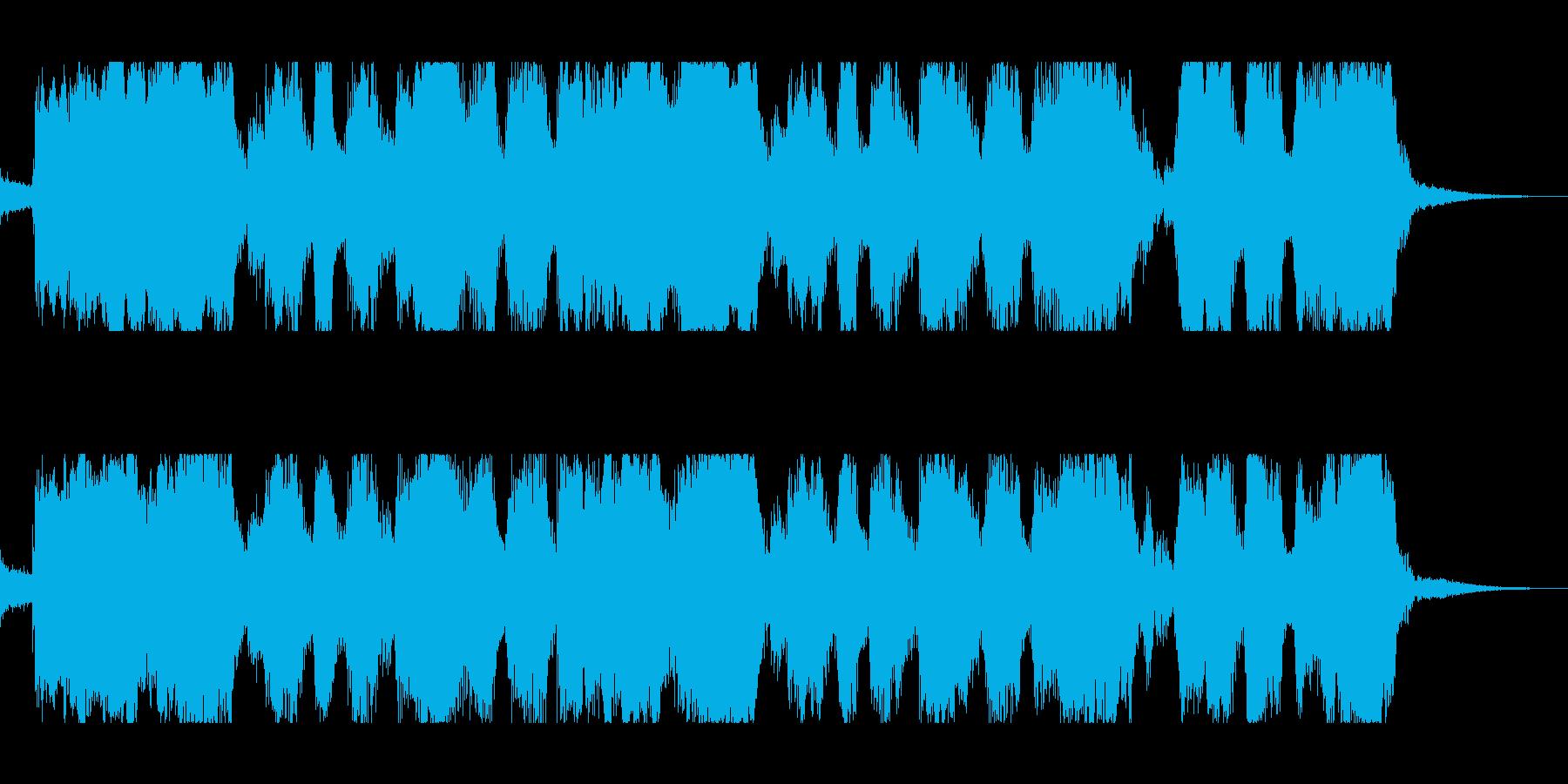 テンポのいいスカポップロックの再生済みの波形