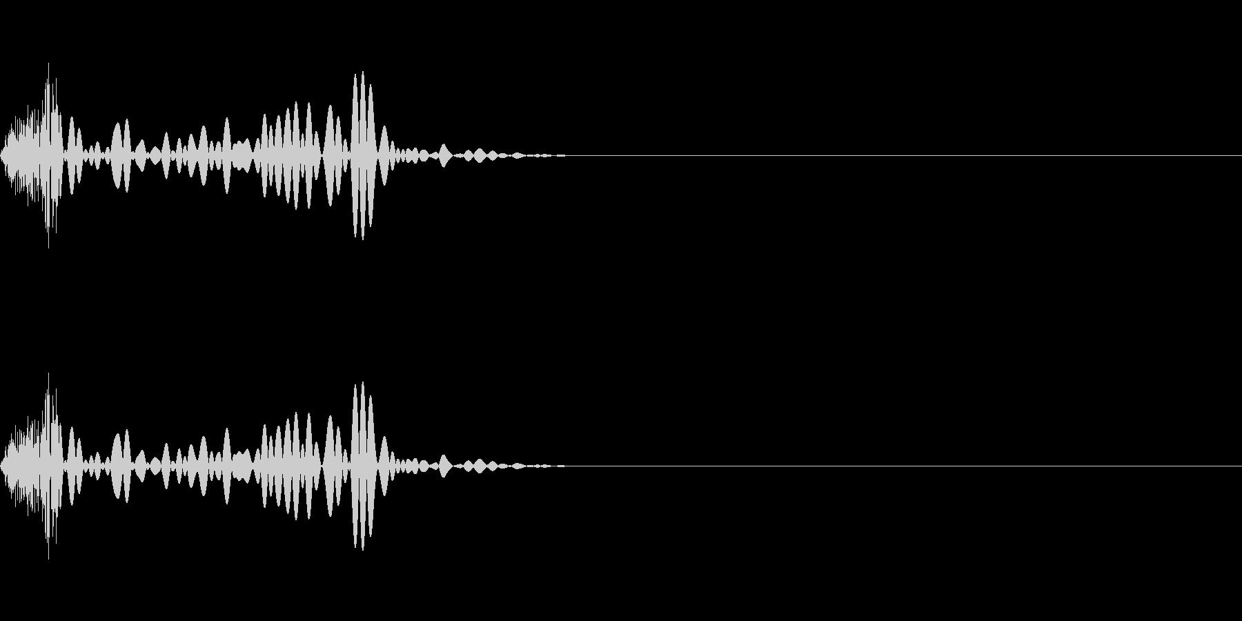 選択タップ音クリック音 チッの未再生の波形