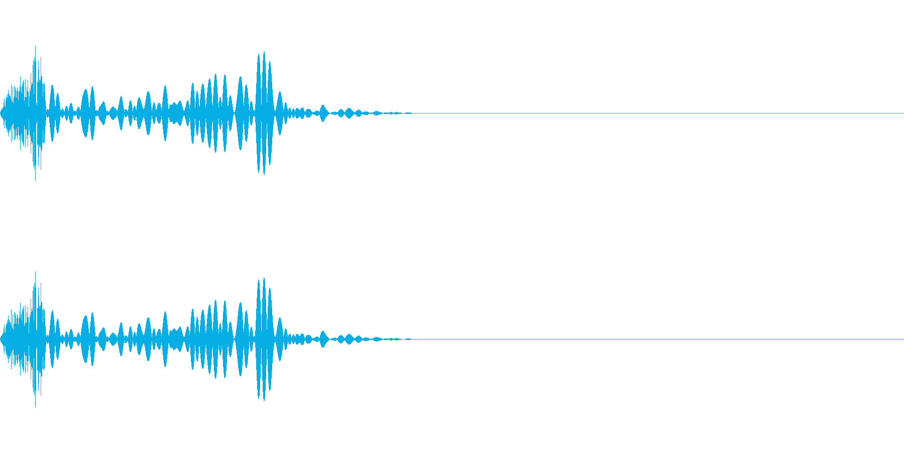選択タップ音クリック音 チッの再生済みの波形