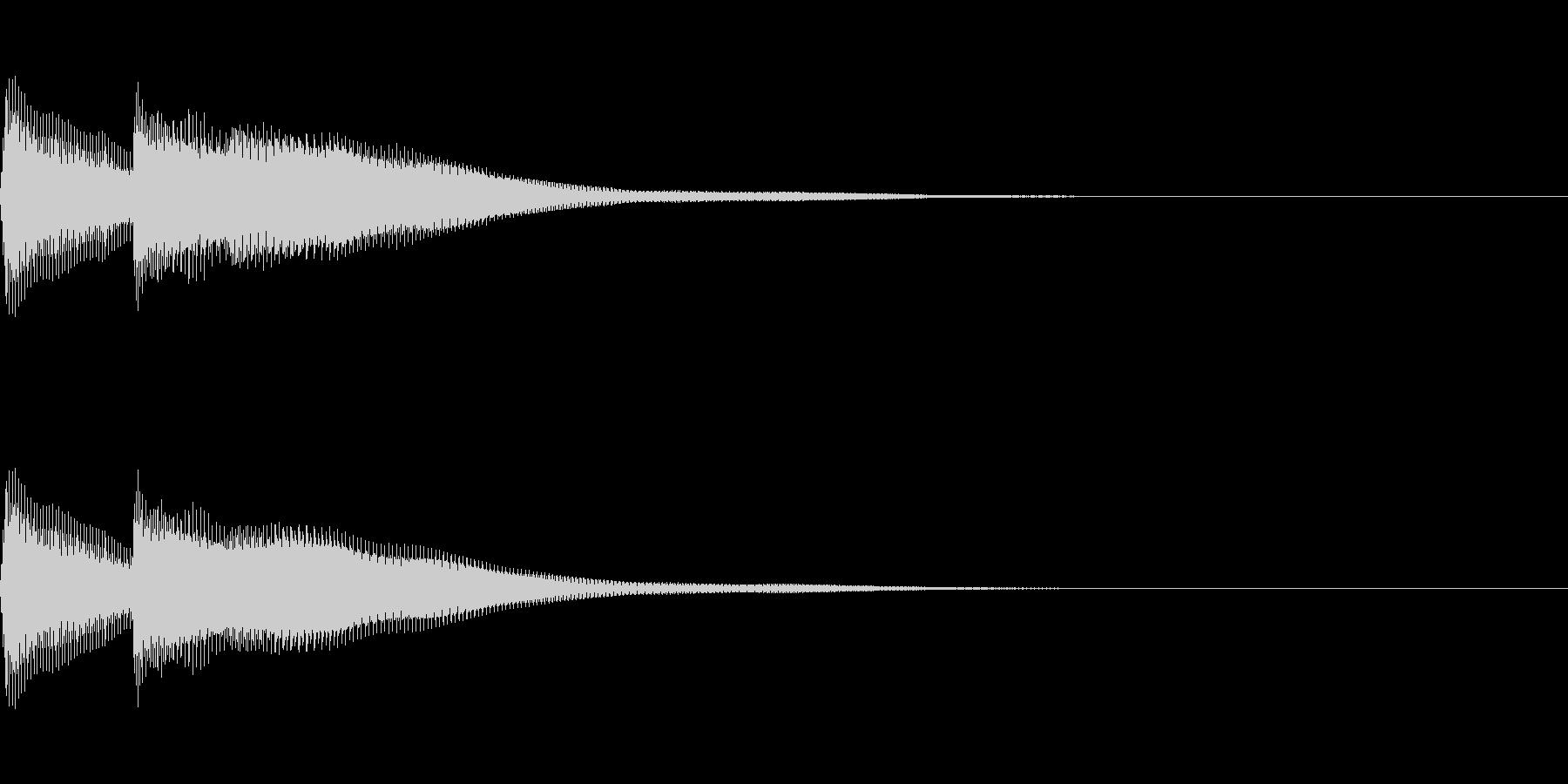 正解 2D 明るい音色 ピポンの未再生の波形
