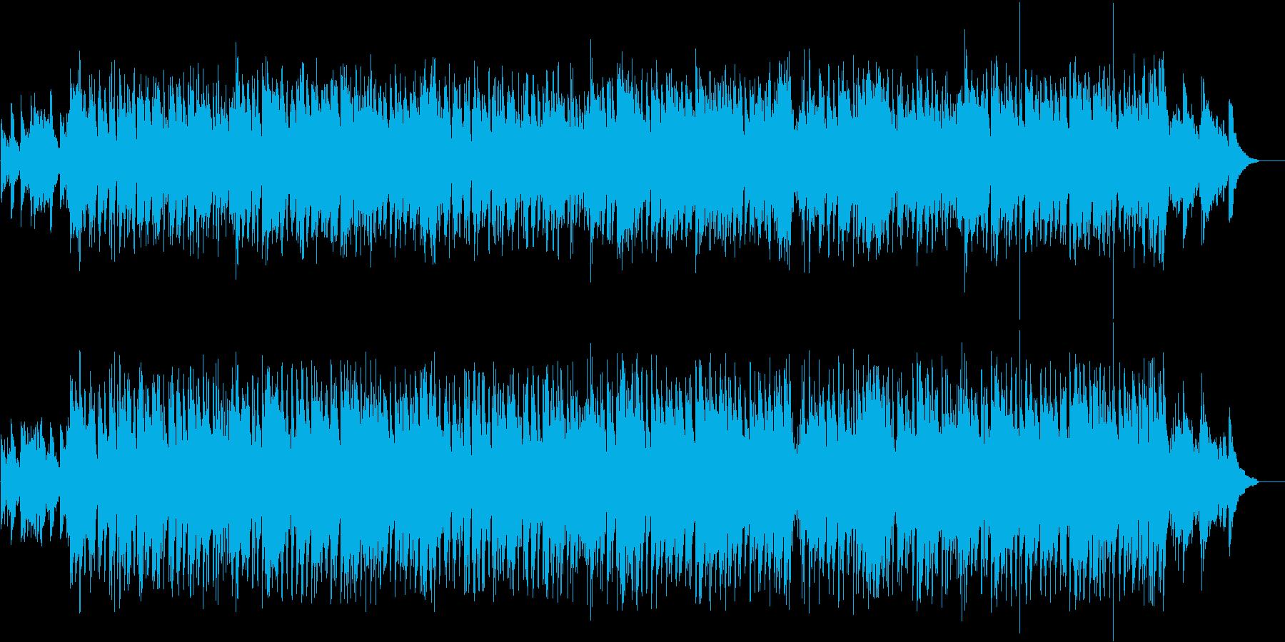 笑顔と思い出のクロスフェード画面の再生済みの波形