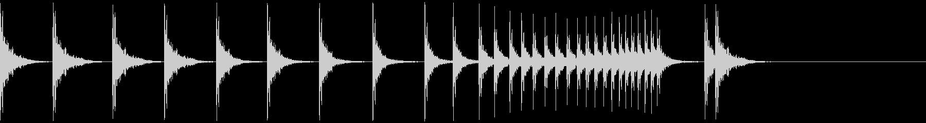 カン!カン!カン!拍子木ロール/ロングの未再生の波形